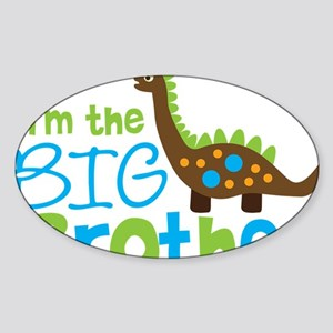 DinosaurImTheBigBrother Sticker (Oval)
