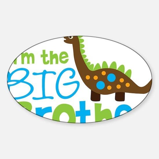 DinosaurImTheBigBrother Sticker (Oval)