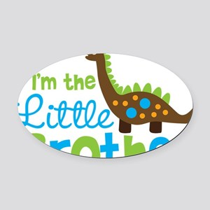 DinosaurImTheLittleBrother Oval Car Magnet