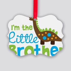 DinosaurImTheLittleBrother Picture Ornament