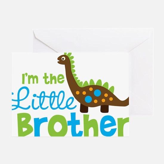 DinosaurImTheLittleBrother Greeting Card