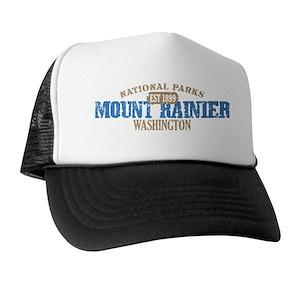 Mount Rainier Trucker Hats - CafePress 728e04e4862b