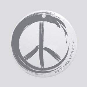 PEACE Wag final Round Ornament
