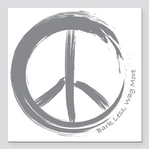 "PEACE Wag final Square Car Magnet 3"" x 3"""