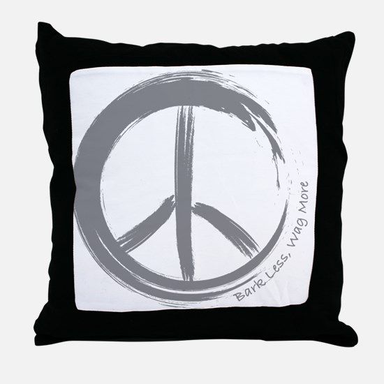 PEACE Wag final Throw Pillow