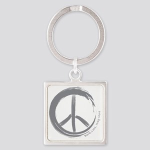 PEACE Wag final Square Keychain