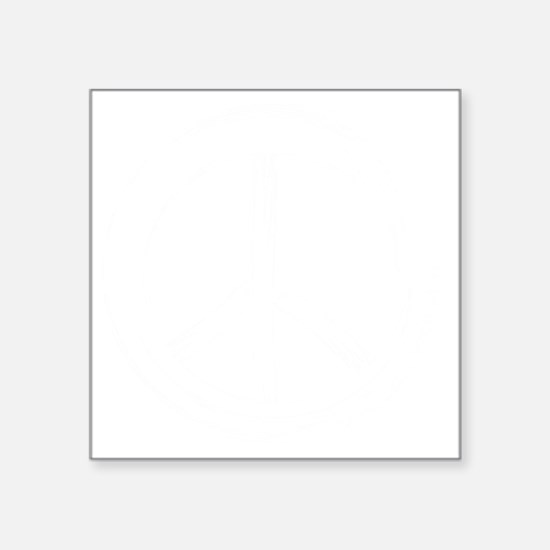 "PEACE Wag final WHT Square Sticker 3"" x 3"""