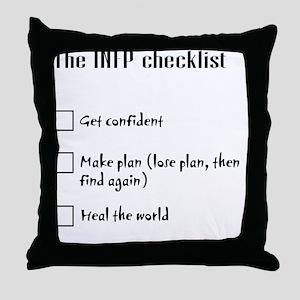 INFPchecklist Throw Pillow