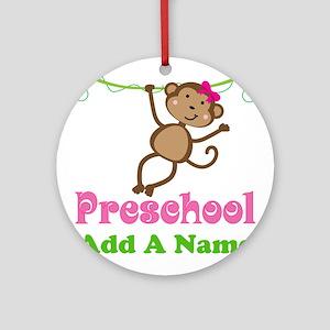 Personalized Preschool Ornament (Round)