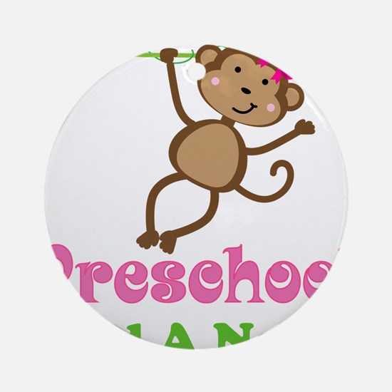 Personalized Preschool Ornament (Round)