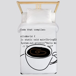 Geektastic: Revolve Around Java Twin Duvet