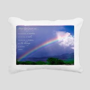 Rainbow Blessing Rectangular Canvas Pillow