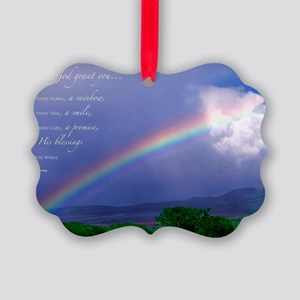 Rainbow Blessing Picture Ornament