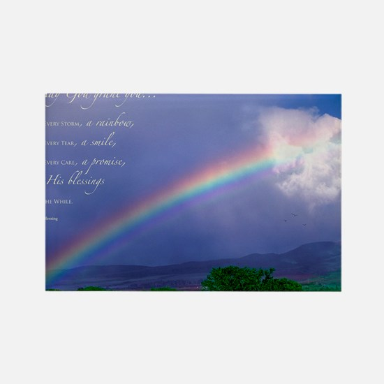 Rainbow Blessing Rectangle Magnet