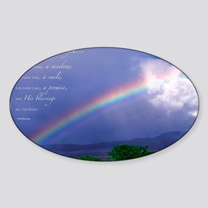Rainbow Blessing Sticker (Oval)