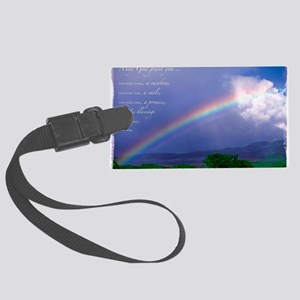 Rainbow Blessing Large Luggage Tag