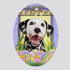 EasterEggCookiesDalmatian Oval Ornament