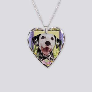 EasterEggCookiesDalmatian Necklace Heart Charm