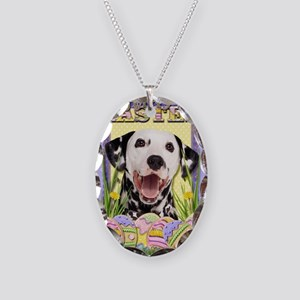 EasterEggCookiesDalmatian Necklace Oval Charm