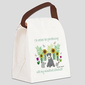 MiniSchnauzer Canvas Lunch Bag