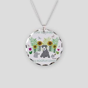 MiniSchnauzer Necklace Circle Charm