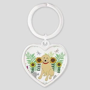 GoldenRetriever Heart Keychain