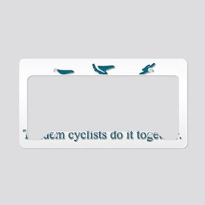 Tandems Do It Together License Plate Holder