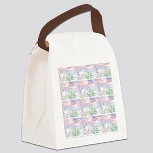 samoyed shower curtain  Canvas Lunch Bag