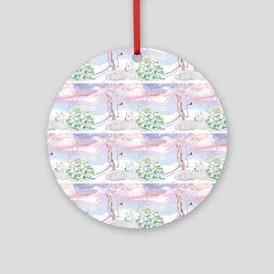 samoyed shower curtain  Round Ornament
