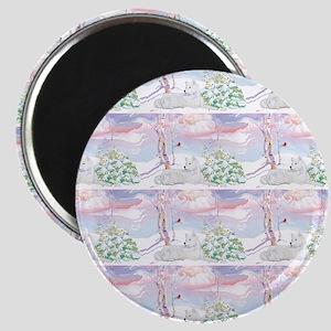 samoyed shower curtain  Magnet