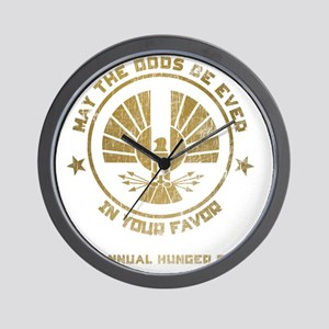 Hunger Games1 distressed Wall Clock