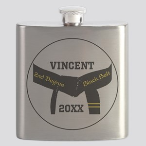 Martial Arts 2nd Degree Black Belt Flask