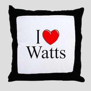 """I Love Watts"" Throw Pillow"