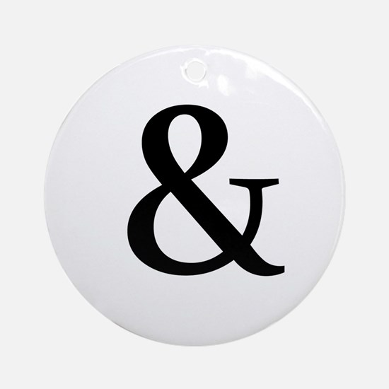 Black Ampersand Ornament (Round)
