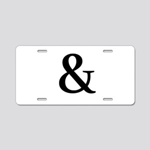 Black Ampersand Aluminum License Plate