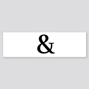 Black Ampersand Bumper Sticker
