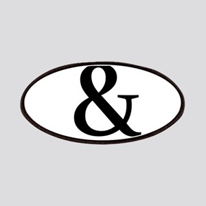 Black Ampersand Patches