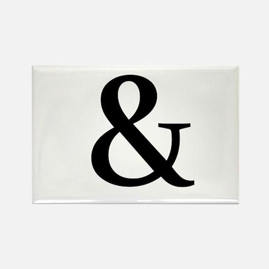 Black Ampersand Magnets