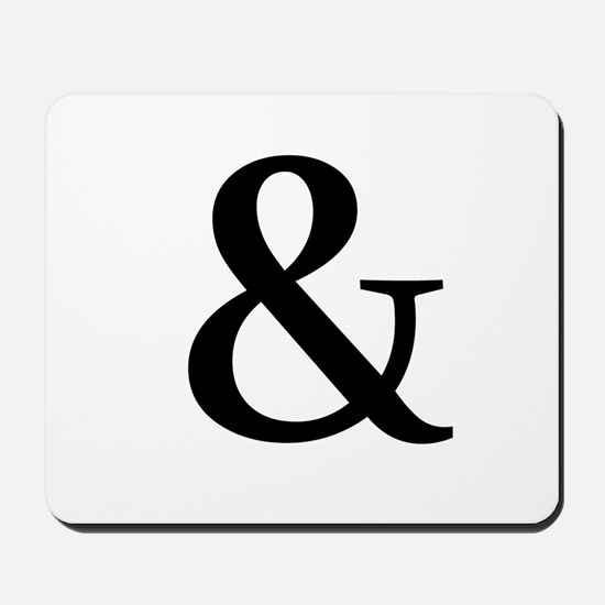 Black Ampersand Mousepad