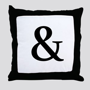 Black Ampersand Throw Pillow