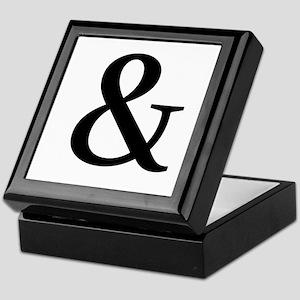 Black Ampersand Keepsake Box