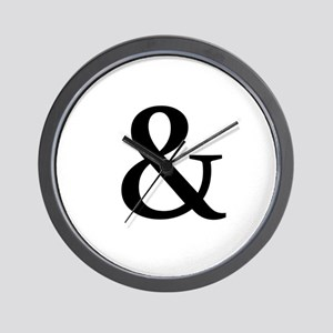 Black Ampersand Wall Clock