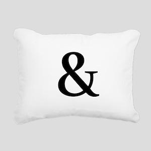 Black Ampersand Rectangular Canvas Pillow