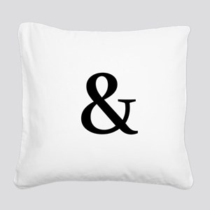 Black Ampersand Square Canvas Pillow