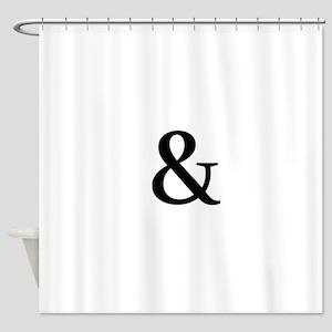 Black Ampersand Shower Curtain
