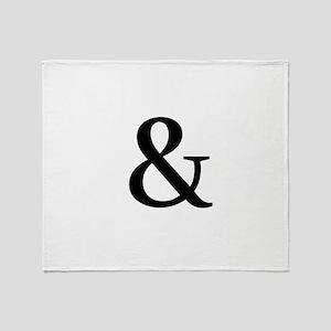Black Ampersand Throw Blanket