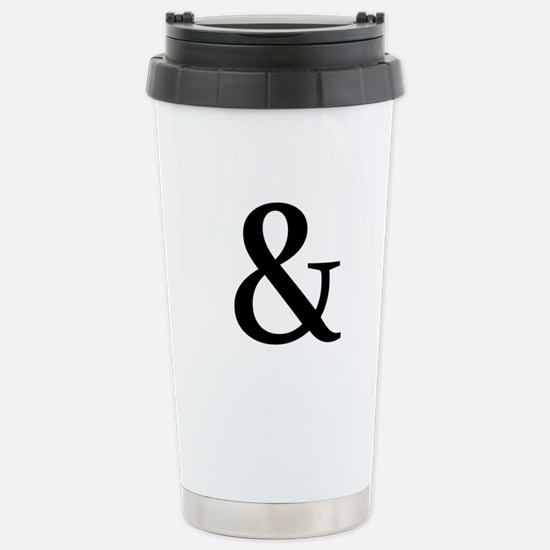 Black Ampersand Travel Mug