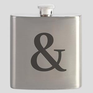 Black Ampersand Flask