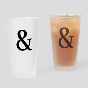 Black Ampersand Drinking Glass