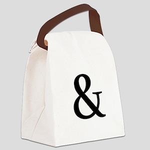 Black Ampersand Canvas Lunch Bag